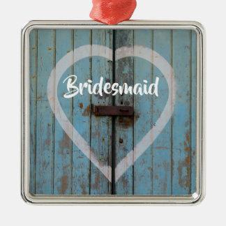 Rustic barn door metal ornament