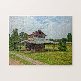 Rustic Barn North Carolina. Jigsaw Puzzle