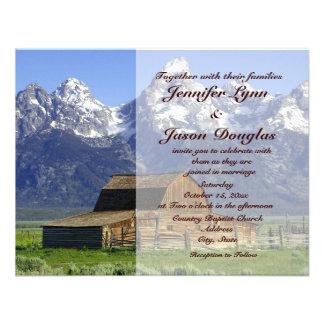 Rustic Barn Rocky Mountain Wedding Invitations