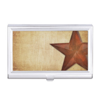 Rustic Barn Star Case For Business Cards