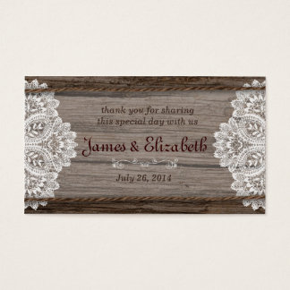 Rustic Barn Wedding Favor Tag
