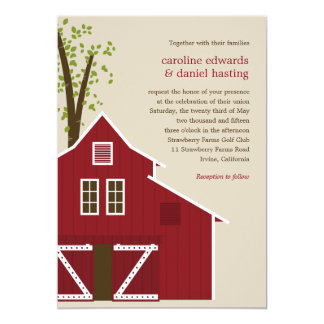 Rustic Barn Wedding Invitation