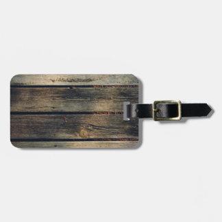 Rustic Barn Wood Bag Tag