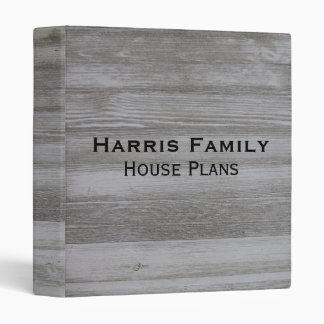 Rustic Barn Wood Binder Personalized House Plans