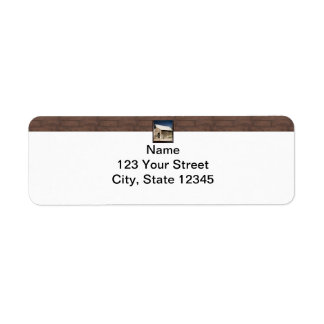 Rustic Barn Wood Borders on White Return Address