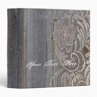 rustic barn wood lace western country wedding binders