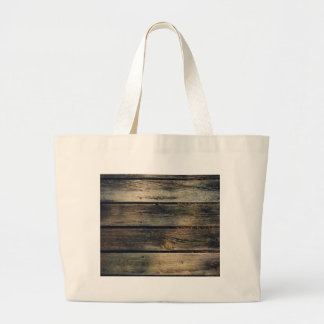 Rustic Barn Wood Large Tote Bag