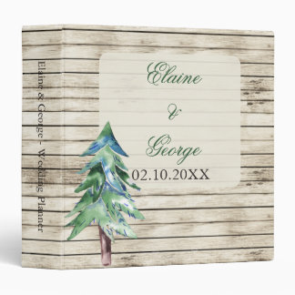 Rustic Barn Wood Pine Wedding Binders