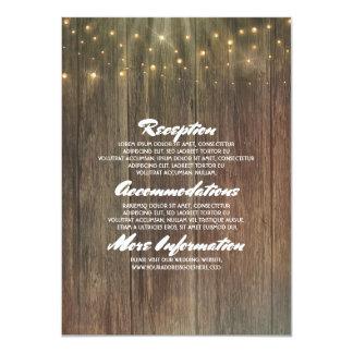Rustic Barn Wood Wedding Details - Information Card