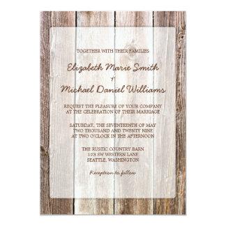 Rustic Barn Wood Wedding Invitations Custom Announcements