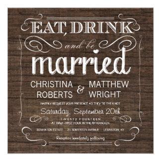 Rustic Barn Wood Wedding Invitations