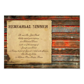 Rustic Barn Wood Wedding Rehearsal Card