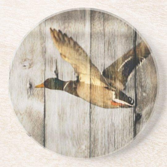 Rustic Barn wood Western Country flying Wild Duck Coaster
