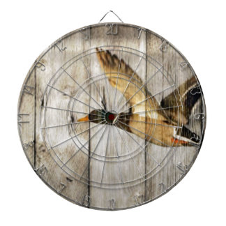 Rustic Barn wood Western Country flying Wild Duck Dartboard