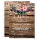 Rustic Barnwood Spring Wildflowers Bridal Shower Card
