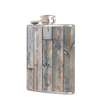 Rustic Barnwood Western Flask