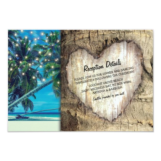 Rustic Beach Destination Wedding Information Card