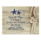 rustic beach driftwood nautical save the date postcard