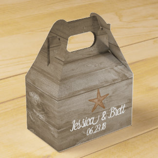Rustic Beach Gable Favor Box