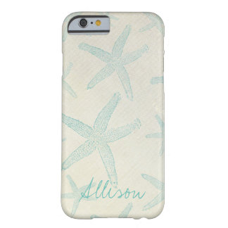 Rustic Beach Starfish Personalized Phone Case Barely There iPhone 6 Case