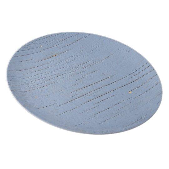Rustic Beach Wood (blue) Plate