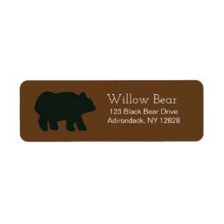 Rustic Bear Customized Address Labels