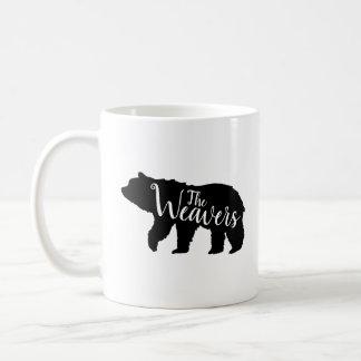 Rustic Bear Family Monogram Coffee Mug