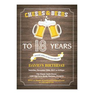 Rustic Beer Surprise 18th Birthday Invitation