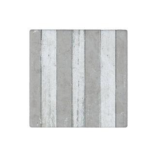 Rustic Beige Driftwood Stone Magnet