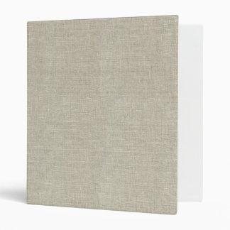 Rustic Beige Linen Printed 3 Ring Binder