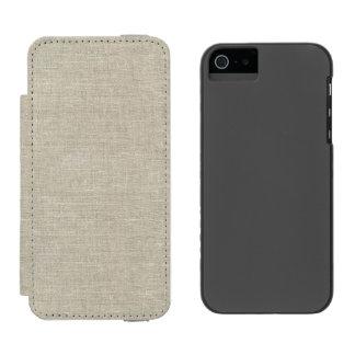 Rustic Beige Linen Printed Incipio Watson™ iPhone 5 Wallet Case
