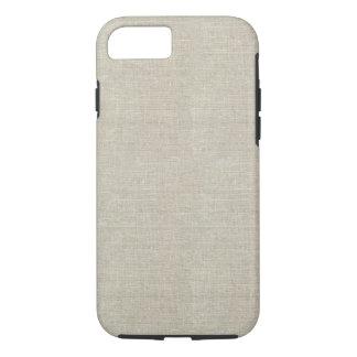 Rustic Beige Linen Printed iPhone 7 Case