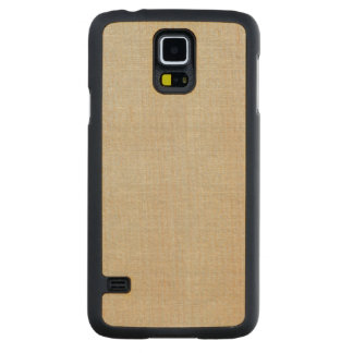 Rustic Beige Linen Printed Carved® Maple Galaxy S5 Case