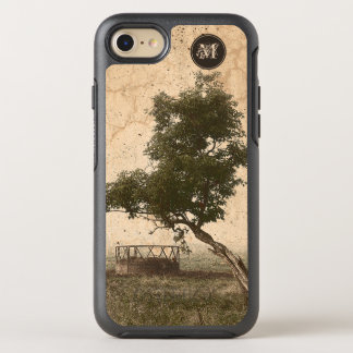 Rustic beige textured tree on farm photograph OtterBox symmetry iPhone 8/7 case