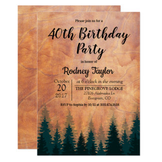 Rustic Birthday Party Invitation