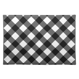 Rustic Black and White Buffalo Plaid | Holiday Placemat