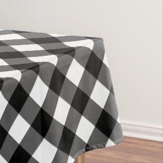 Rustic Black and White Buffalo Plaid Tablecloth
