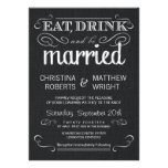 Rustic Black Burlap Vintage Wedding Invitations