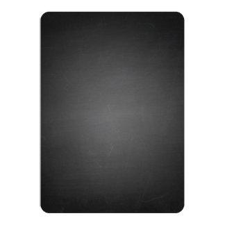 Rustic Black Chalkboard Printed Card