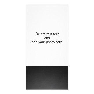 Rustic Black Chalkboard Printed Photo Card