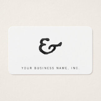 Rustic Black Letterpress Ampersand Business Card