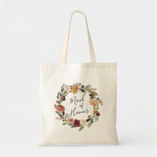 Rustic Bloom | Maid of Honor Tote Bag