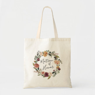 Rustic Bloom | Matron of Honor Tote Bag