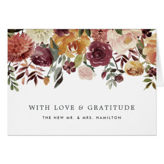 Rustic Bloom Personalized Thank You Card