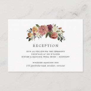 Rustic Bloom Reception Enclosure Card