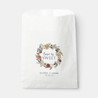 Rustic Bloom Wedding Favour Bag