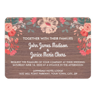 Rustic Blossom Collection Wedding Invitations