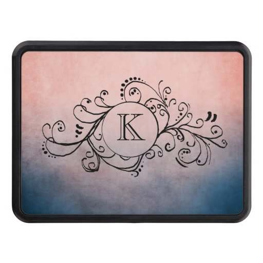 Rustic Blue and Pink Bohemian  Flourish Hitch Covers