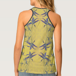 Rustic Blue and Yellow Tank Top