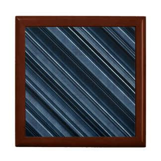 Rustic Blue, Attractive Men's Stripes Pattern Keepsake Box